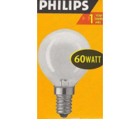 Philips P45 E14 60W шар матовая 3857