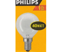 Philips P45 E14 40W шар матовая 7010