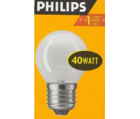 Philips P45 E27 40W шар матовая 7412